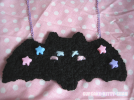 For Sale - Fluffy Bat Necklace by Sugary-Stardust