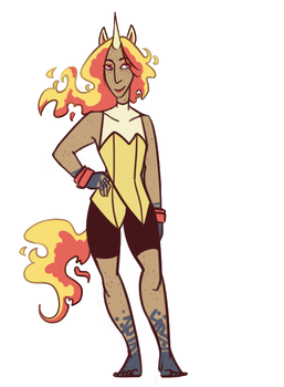 Rose the Rapidash by GalaxyDemon