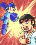 Megaman x Street fighter by watercat2