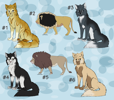 Cat Lion Adoptables - CLOSED by Hermannmagdich
