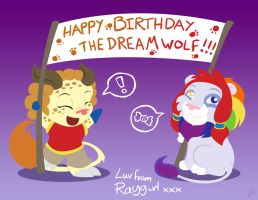 Birthday banner for Dreamwolf by raygirl