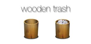 Wooden Trash Icon by Ungeiist