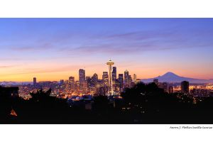 Seattle Skyline Light HDR by photoboy1002001