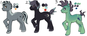 MLP Adoptables (Points) 3 - GONE by Railguns
