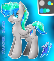 Thunder Blaze New Reference (MLP) by CKittyKat98