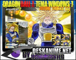 Future Trunks SSJ Theme Windows 7 by Danrockster