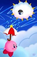 Parasol Kirby and Kracko by Midnight3795