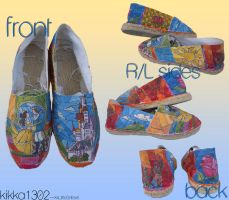 -- Beauty and the Beast espadrillas -- by xXLittleStrifeXx