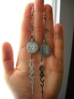 Time Lord (or Lady) earrings by Ravenhart