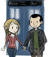 Dr.Who and Rose by Mikkynga