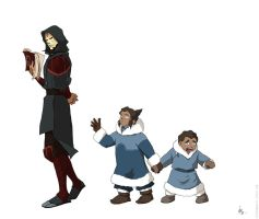 The Legend of Korra:Amon-Noatak-Tarrlok by chihe