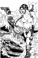Extinction Theory, Lara Croft? (Marcio Abreu Inks) by SupermanOfToday