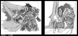 Varian Wrynn rough by LudoLullabi
