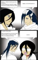 Byakuya and Rukia Comic by Johnnismo2