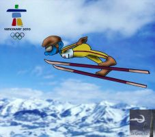 Olympic Ski Jumping Smurf by TheSorceressRaven