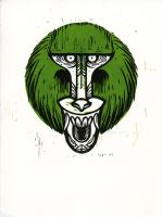 Snarly Animal Head Series: Baboon by AmandaMyers