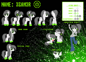 XGAM3R Official Reference Sheet by MoonDash