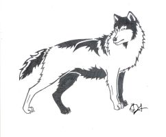 Wolf Tribal - PrismaColor by Hidden-Wolf-Within