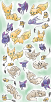 PKMNation Adorable Horde by kitzune-griffith