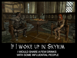 If I woke up in Skyrim 6 by Cinn-Ransome