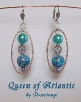 Queen Of Atlantis Earrings by DombiHugi