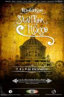 Cartel Retrofuturismo Steampunk en Mexico. by Dorian-Dupin