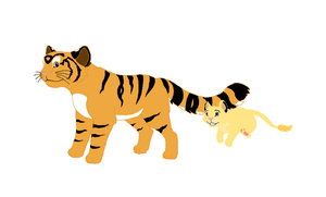 Tiger and Lion Cub by RunningSpud