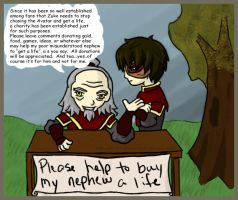 The get Zuko a life fund. by lilfirebender