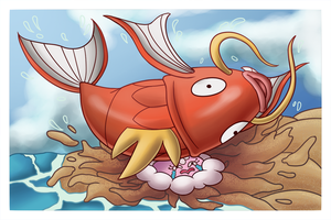 Magikarp vs Jellicent by Shilokh