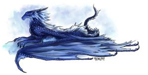 Bluescale Dragon by aviagua