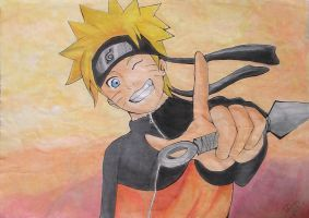 Fan Art_Naruto_Watercolor pencil by DiogoRReis