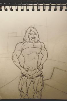 Thunder Thighs Sketch by dr-robert420