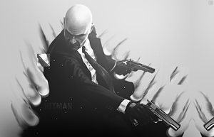 Hitman Smudge BW by dOseeN