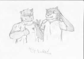 I and my friend Kounosuke by Lickan-Nicol