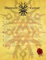 Adventurer contract by Yoblicnep