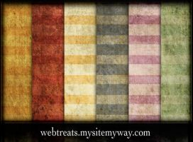 Flat Grungy Summer Stripes by WebTreatsETC