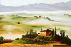 Tuscany Oil Painting by yandere-Yuno