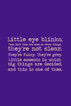 Little Eye Blinks by inkandstardust