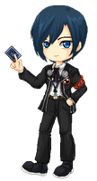 Persona 3 Main Character by lyxven