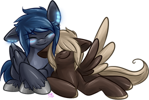 COMMISSION: Snuggle. by BritishStarr