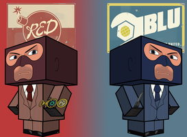 TF2 spies cubees by Toon-Orochi