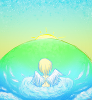 Angel on a Cloud by isa961