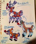 New Fakemon - Rudolph The Red-Nosed Reindeer by YamiKariShadow6