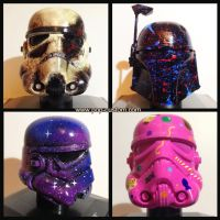 Which is your favorite ? Custom Star Wars Helmets by Pop-custom