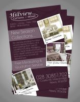Hillview Curtains A5 Flyer by RonanMcS