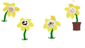 Flowey the Flower by Allena-Frost-Walker