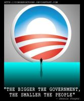 The Bigger the Government... by Conservatoons