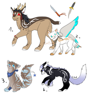 CLOSED - Mixed Adoptables 326 by LeaAdoptables