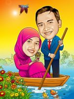 prewedding cartoon III by IborArt