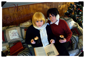 Merry Christmas - Armin and Eren by Kozekito